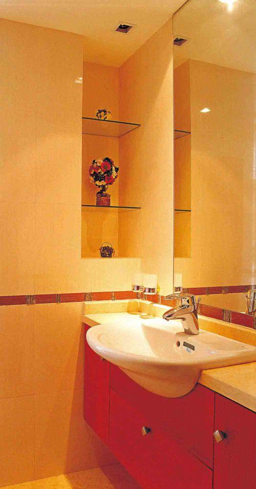雅丽简欧风格卫生间洗手池设计