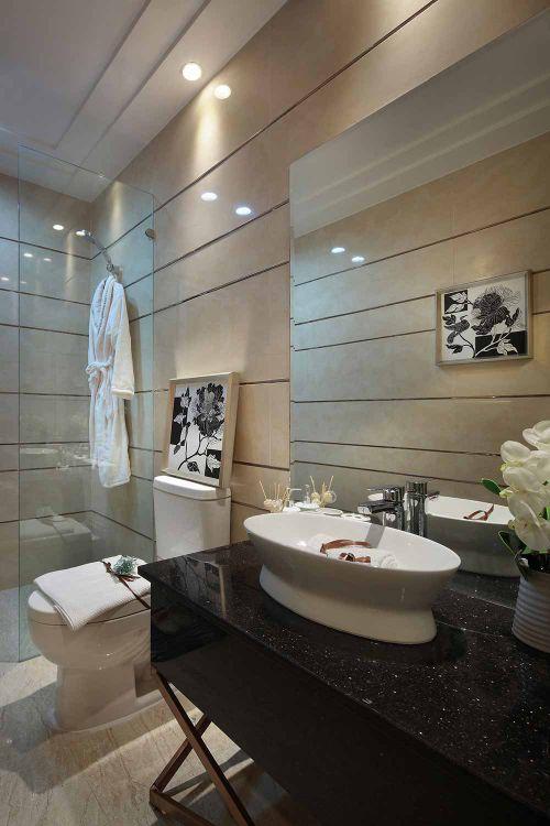 高端质感现代风格卫生间装修图片