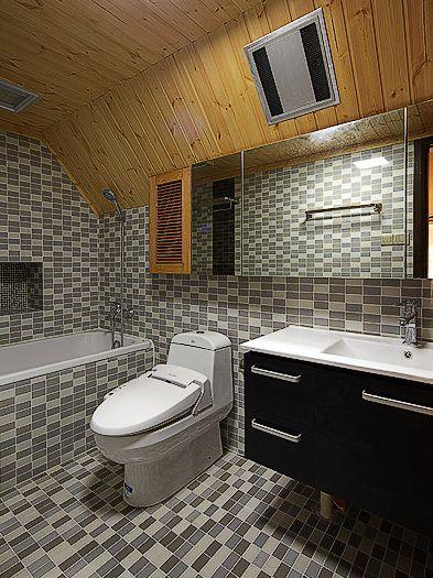现代灰色卫生间美图欣赏