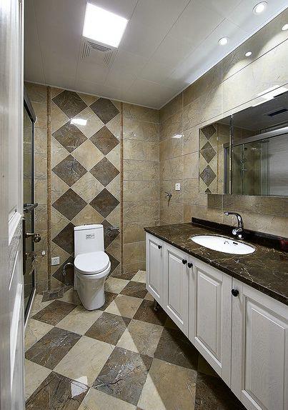 优雅时尚现代风格2016卫生间装饰案例