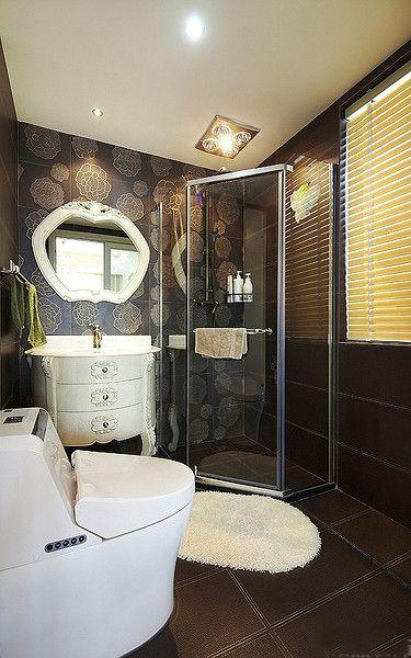 现代风格质感黑色卫生间设计赏析