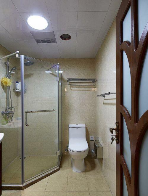 米色现代卫生间装饰设计图片