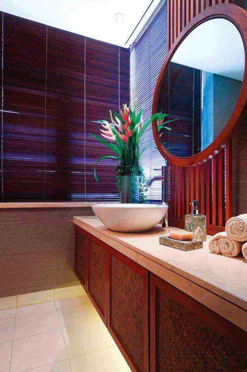 温馨雅致现代风格卫生间装修设计