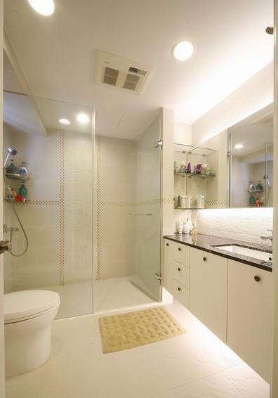素雅时尚现代风格白色卫生间装修效果图片