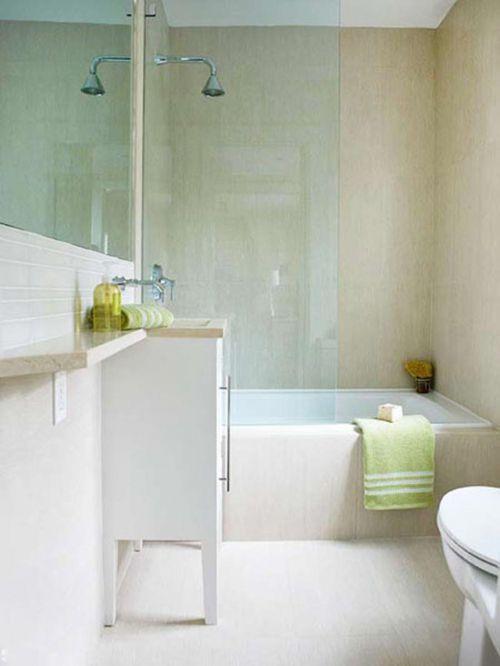 白色简洁现代的风格清爽卫生间设计欣赏