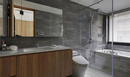 现代风格高端雅致卫生间设计效果