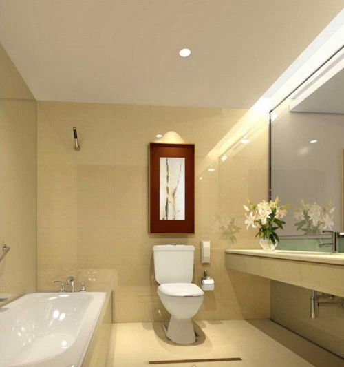 温暖基调现代风格卫生间设计