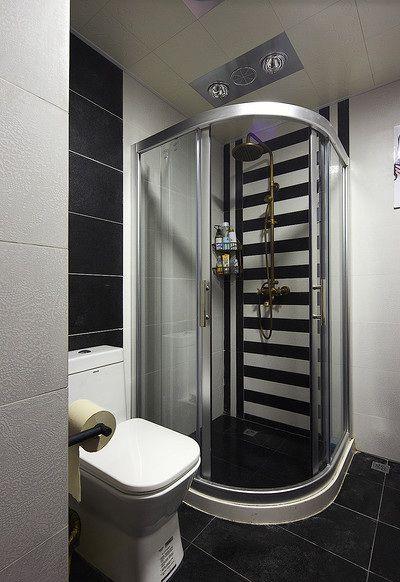 黑色现代风格雅致卫生间设计图片