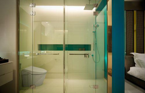 简洁现代风格蓝色卫生间设计装潢