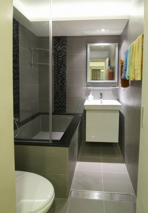 简洁现代风格卫生间装修美图
