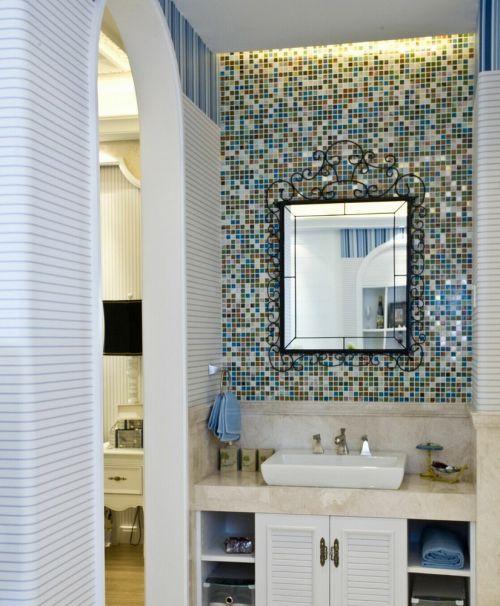 创意马赛克地中海风格卫生间设计欣赏