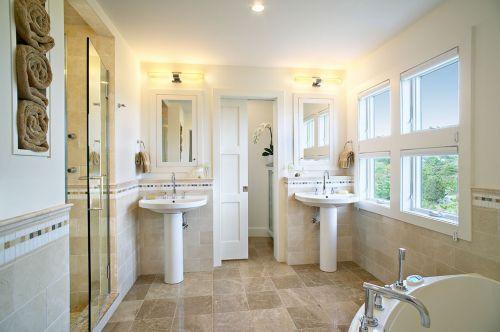 简洁欧式风格卫生间设计欣赏