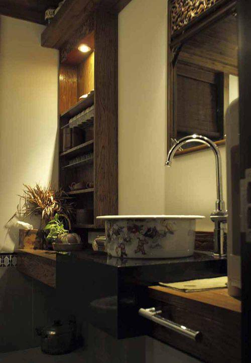 古朴中式卫生间装潢设计