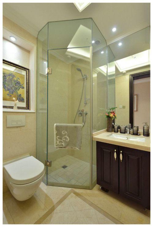 欧式风格简洁卫生间设计图