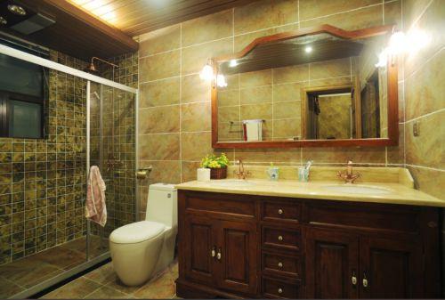 美式雅致黄色卫生间装修设计2016