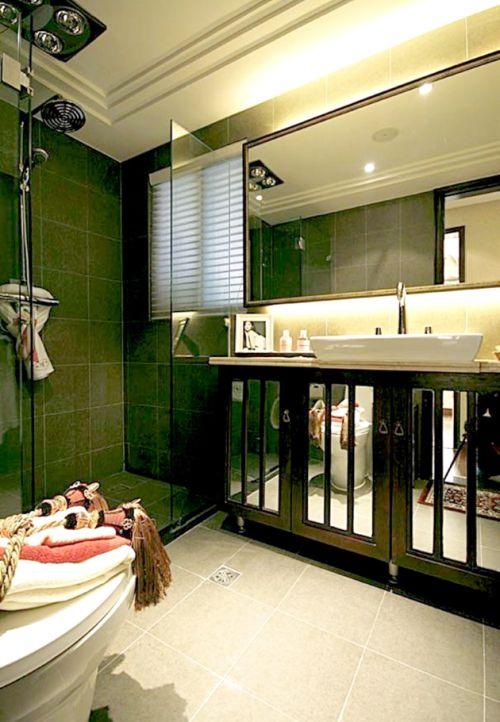 现代中式设计卫生间参考图