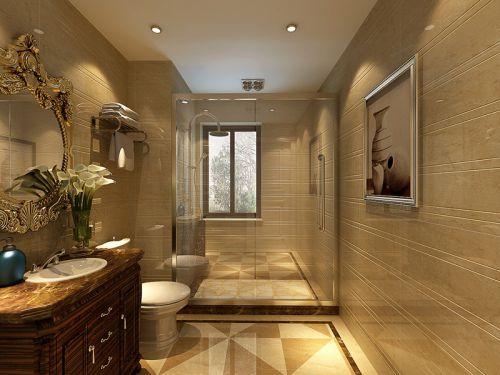 美式风格米色素雅卫生间装修案例