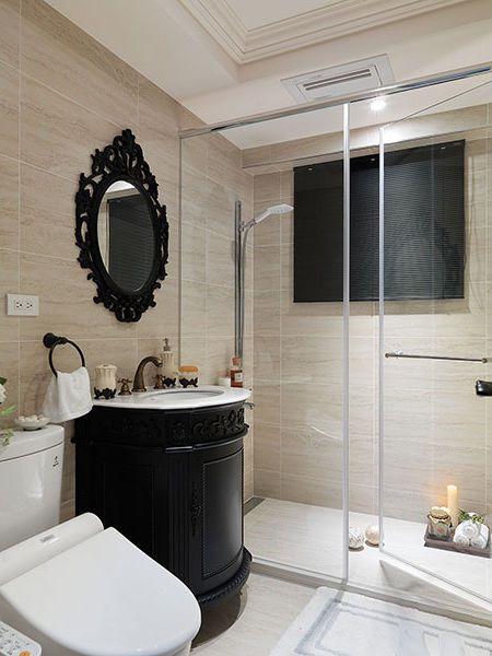 美式米色素雅卫生间装修效果图片