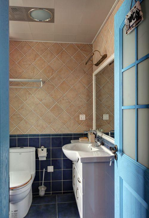 地中海风格蓝色卫生间装修效果图设计