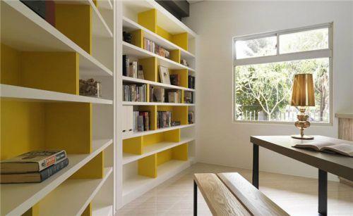 白色简约书房设计图片