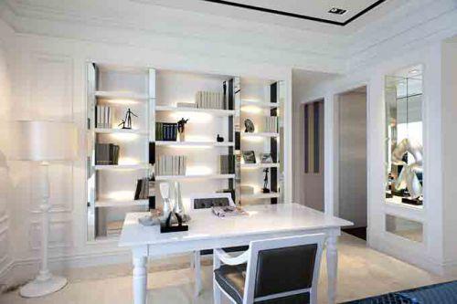 简洁耐看现代书房装潢设计