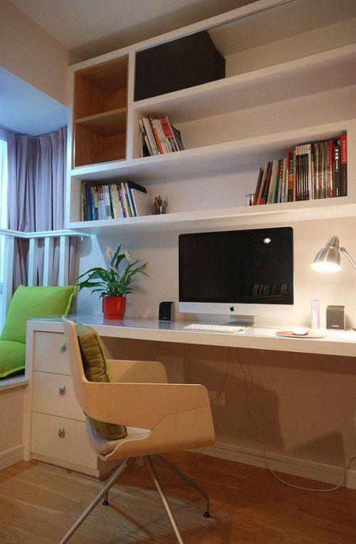 现代风格时尚白色书房美图