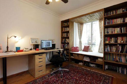 美式风格白色书房设计装潢鉴赏