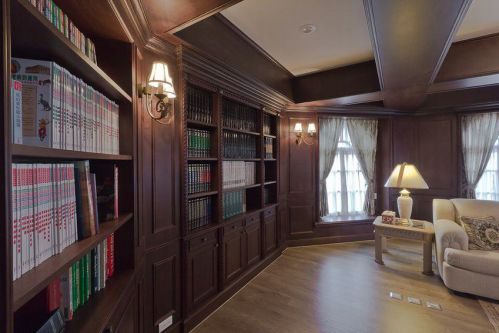 大气奢华复古美式风格书房美图