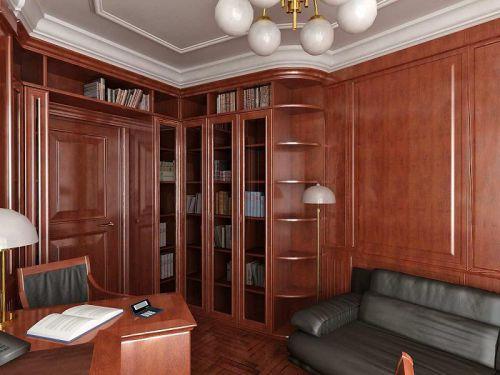 沉稳大气美式风格书房设计图片