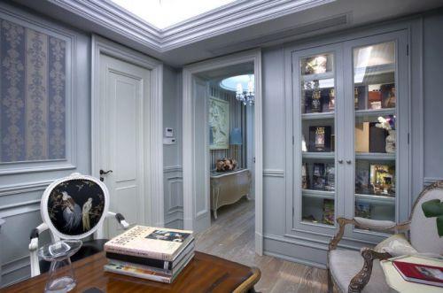 灰色简欧风格书房装修图片