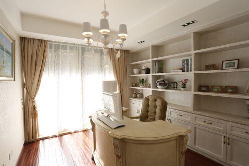 简欧风格米色书房效果图设计