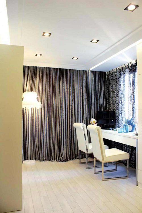 银灰时尚简欧温馨书房设计