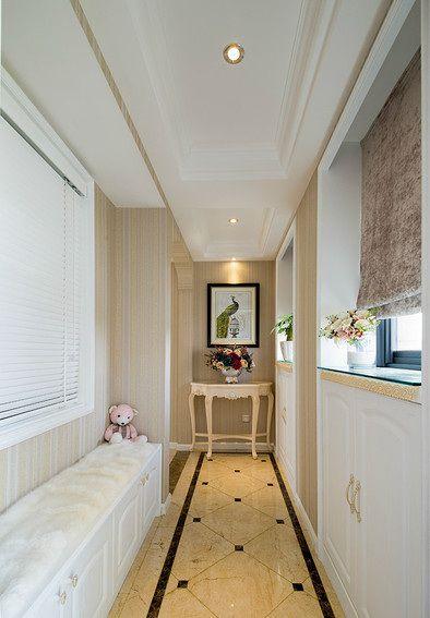 2016白色简欧风格玄关装饰设计图片