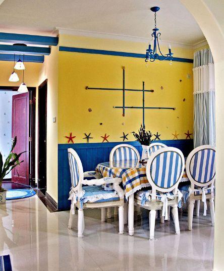 黄色地中海风格餐厅装饰案例