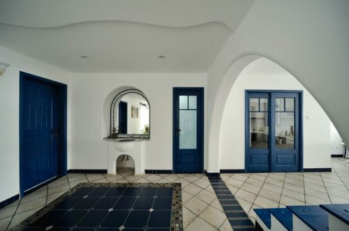 浪漫时尚地中海门厅装饰设计图片