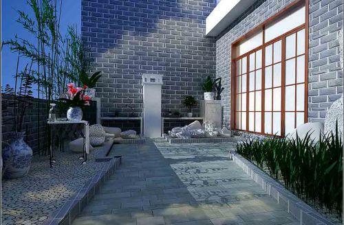 现代花园装修效果图