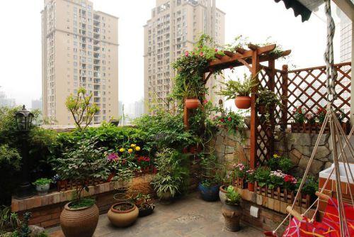 米色大气自然现代花园装潢