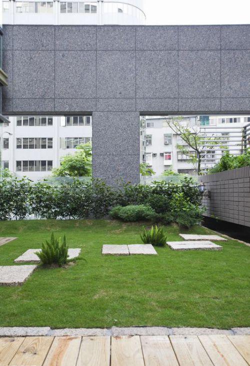 现代清新绿色花园设计图