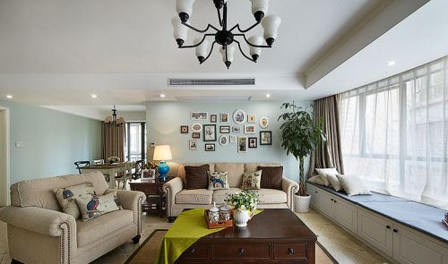 美式风格米色浪漫客厅装潢装饰设计图片