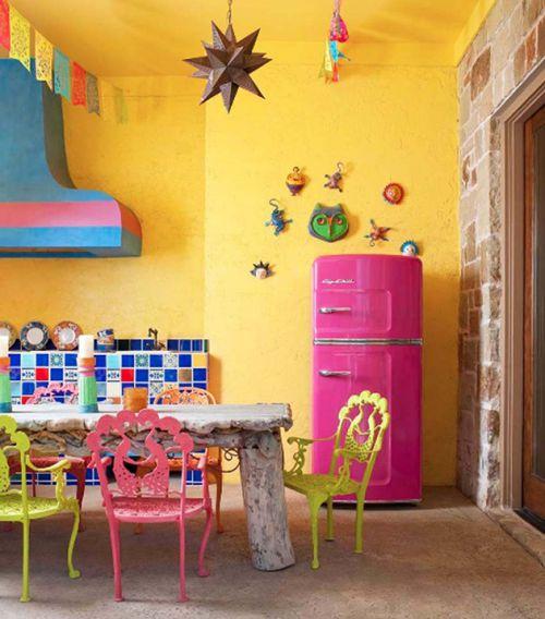 彩色混搭花园设计