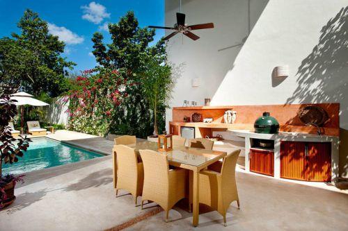 清新自然新古典风格花园休闲区域设计