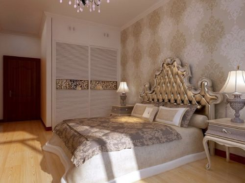 欧式风格素雅米色卧室效果图欣赏