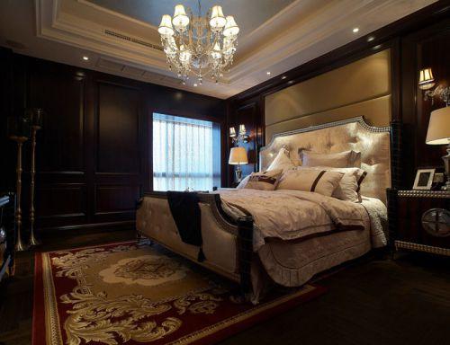 2016大气欧式风格黑色卧室装修图