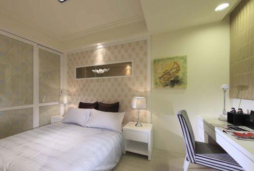 简洁欧式风格卧室装修效果图