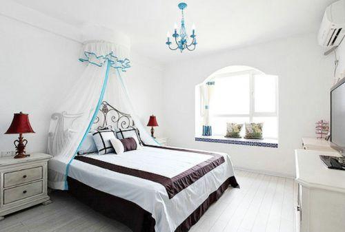 浪漫白色地中海卧室装修布置