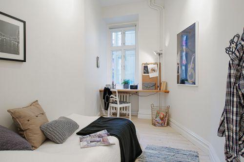 2015白色清新简约卧室装潢设计