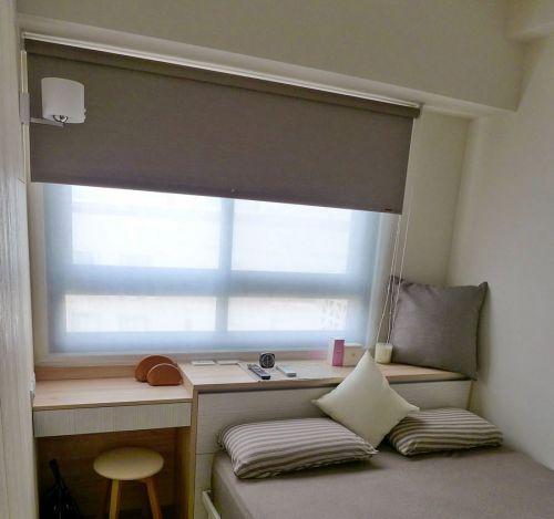清新米色简约风格卧室设计图片