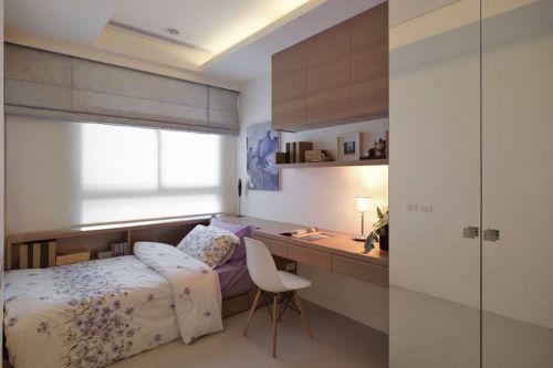 白色简约淡雅卧室设计欣赏