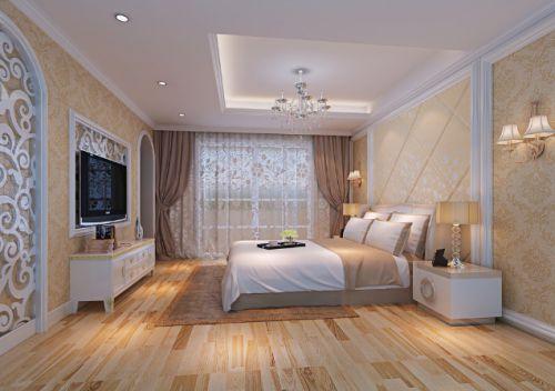 米色简约浪漫温馨舒适卧室图片