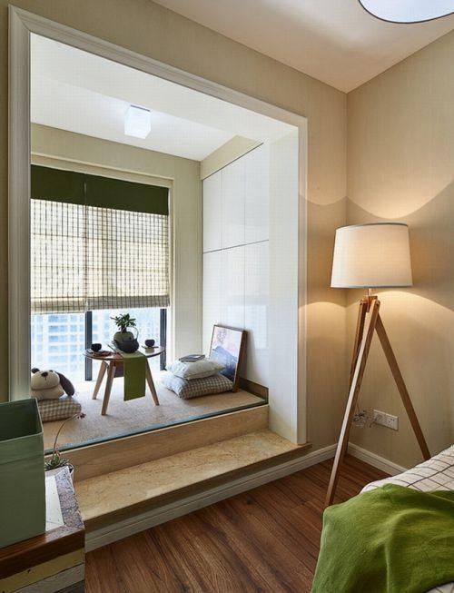 简约卧室榻榻米设计效果图